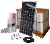 complete solar kit, ready to install system